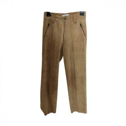 ROCOCO beige/camel suede  pants size M