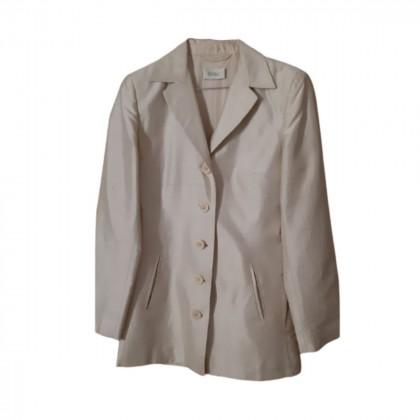 Romeo Gigli beige wild silk jacket size IT 40