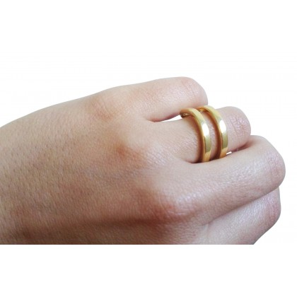Calvin Klein gold plated ring.