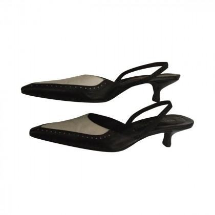 Rebecca Sanver leather slingbacks size IT39.5