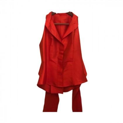 Max Mara Orange Silk Top size IT 48