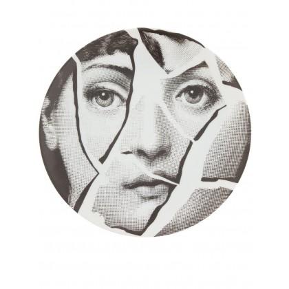 Fornasetti Lina Cracked Face PLATE Piero Fornasetti