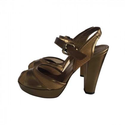 SONIA RYKIEL Bronze sandals size IT37.5