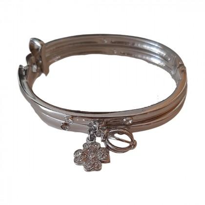 Swarovski double handcuff bracelet