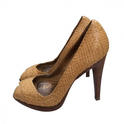 The Saddler leather woven heels size IT37.5