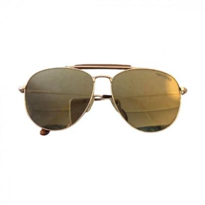 Tom Ford gold metal aviator sunglasses