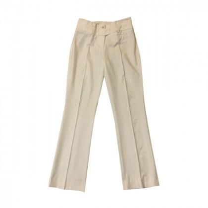 Trussardi white wool pants size S