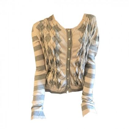 Twin Set by Simona Barbieri grey  white Knitted Jacket