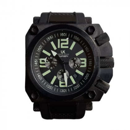 UK unisex water-resistant chronograph watch