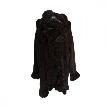 Brown vison hooded fur onesize