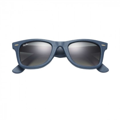 Ray-Ban Wayfarer Leather Blue/ Grey gradient lenses sunglasess LIMITED EDITION