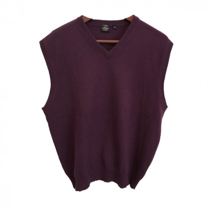 Yorn knitwear Cashmere men's purple top size IT52