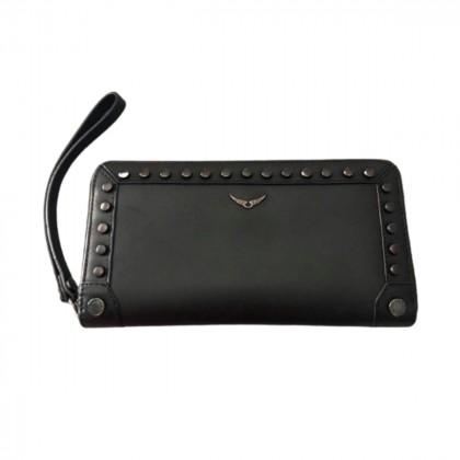 Zadig & Voltaire black leather wallet retail price 230€
