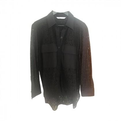 Zara black lace asymmetrical shirt size L
