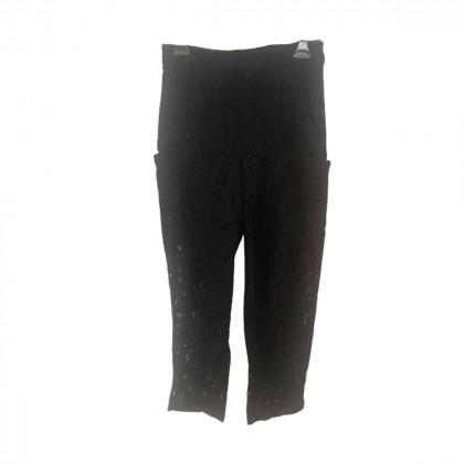 Zara black lace pants  size M