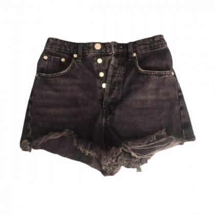 Zara black denim shorts size US2