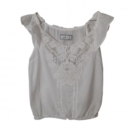Abercrombie & Fitch white cotton top size M