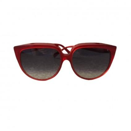Celine burgundy red oversized sunglasses