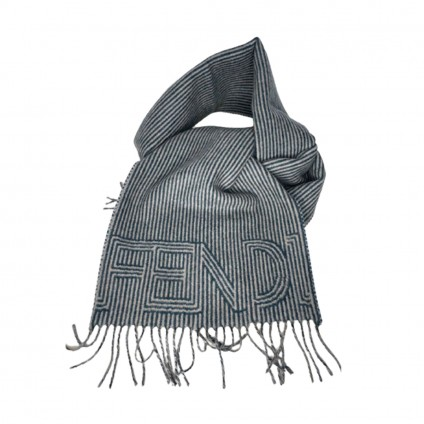 FENDI unisex wool and cashmere long scarf-brand new