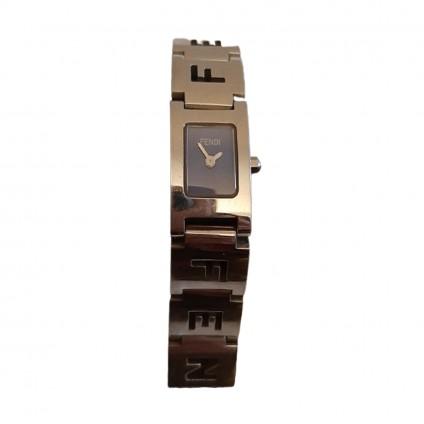 Fendi steel women's watch blue dial silver bracelet 20 mm