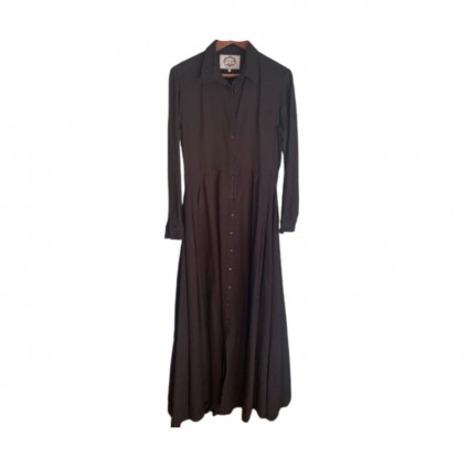 Evi Grintela Black Juliette Shirtdress size L