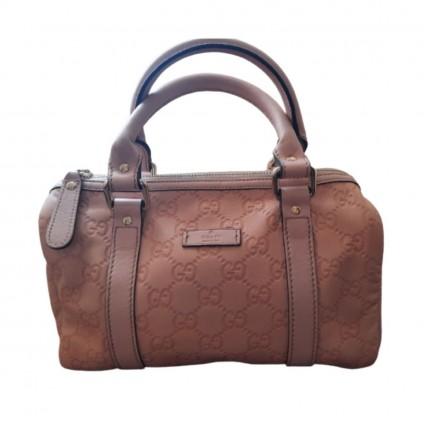 GUCCI pink Guccissima leather Joy Boston bag