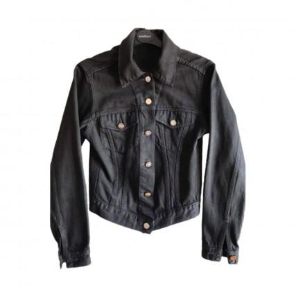 Gucci black denim jacket size IT 40