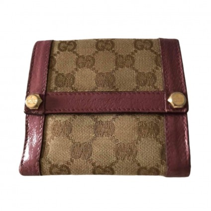 GUCCI GG canvas wallet