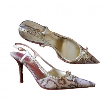 Guess by Marciano snakeskin print slingbacks size IT37