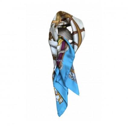 Hermès Carré 90 silk multicolor scarf