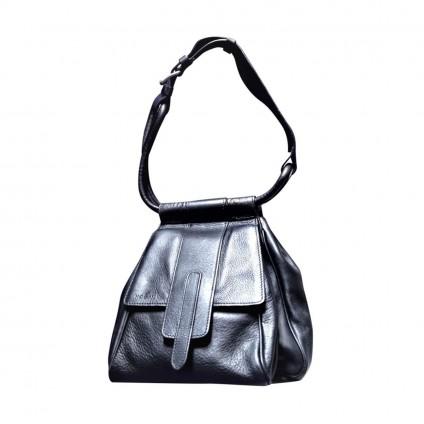 HOGAN black leather shoulder mini bag