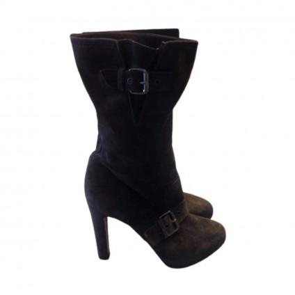 Christian Louboutin flanavec ebene brown boots size IT39.5