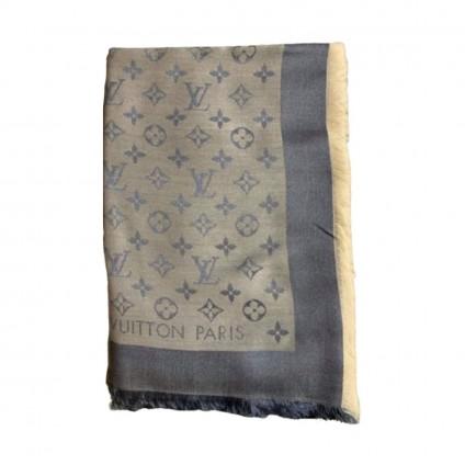 LOUIS VUITTON monogram Silk/Wool Shawl/Scarf-brand new