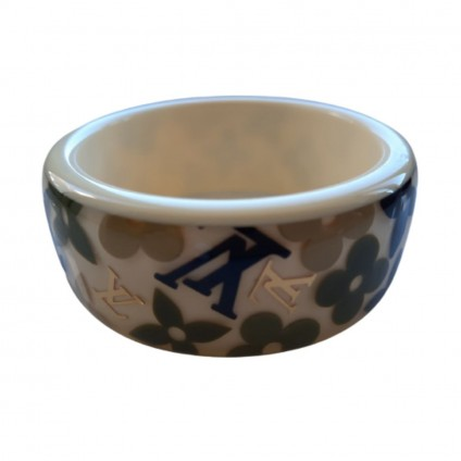 LOUIS VUITTON white resin monogram Inclusion  bracelet