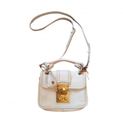 Miu Miu white/cream colored leather mini bag