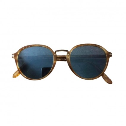 Persol tortoise sunglasses with blue lenses