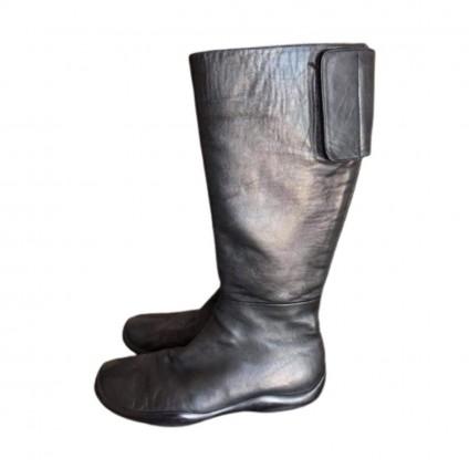 Prada black leather boots size 39