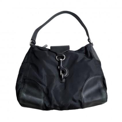 PRADA black nylon and leather bag