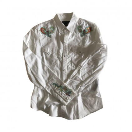 Ralph Lauren embroidered cotton white shirt US 6