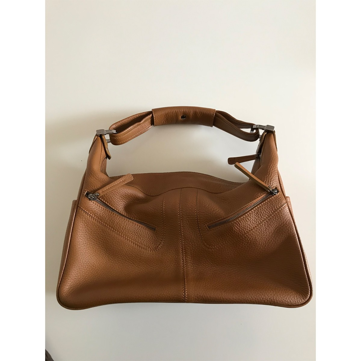 fce6c7cedd8 Tod's Robin's Peevled Leather Hobo bag in camel color - Women | My ...